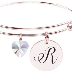 Jewelry - Rose Gold Initial Bangle (R)